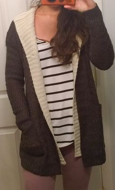 Jojo Open Cardigan front omg love this sweater! And fleece leggings? Tapas, Fleece Leggings, Stitch Fix Stylist, Open Cardigan, Sweater Jacket, Ripped Jeans, My Outfit, Personal Style, Cute Outfits