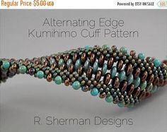 On Sale PDF Supplement-Two Kumihimo Cuff Variations: Reversible Cuff and Alternating Edge Cuff (Tutorial Available Separately)