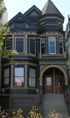 San Francisco Victorian Color Scheme Inspired By A Wedgewood Teapot    Wow!  Color Scheme