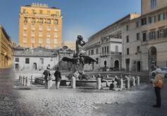 La Fontana del Tritone - #roma #rome#rephotography
