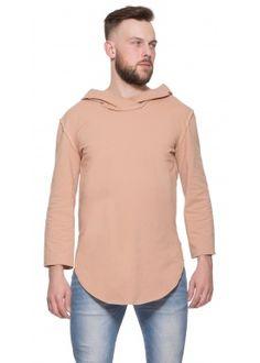 3/4 Long hoody camel