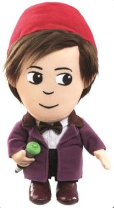 11th Doctor talking plush with Fez