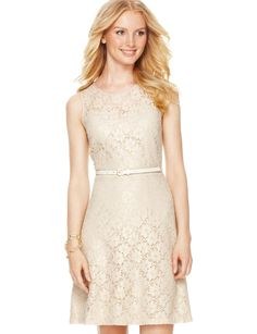 something sweet about this... Metallic Lace Dress