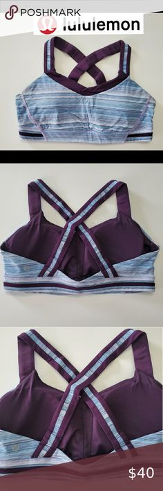 SAMANTHA CHANG LACE RACERBACK BRALETTE Sz SM /& MD Front Closure in PURPLE