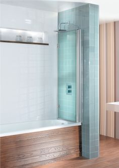 DESIGN VIEW Double Bath Screen - Dual Inward Opening in Design View   Simpsons - Shower Enclosure Products