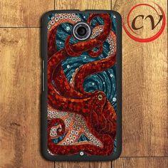 Red Mosaic Octopus Nexus 5,Nexus 6,Nexus 7 Case