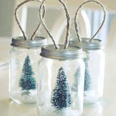 DIY Mason Jar Christmas Craft Ideas- Christmas Ornaments - Click Pin for 26 Holiday Craft Ideas