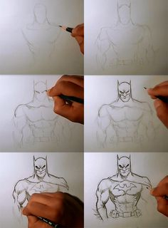 How to draw Batman