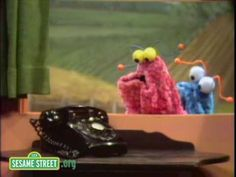 """Like today's youngsters, the Sesame Street Martians (""""Yip Yips"""") can't identify a rotary telephone. (1971)"""