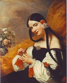 Portrait of an Andalusian lady by Carl von Steuben 1834