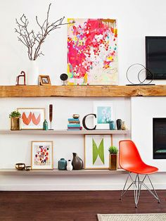 21 Ways to Make Your Living Room Seem Ginormous via Brit + Co