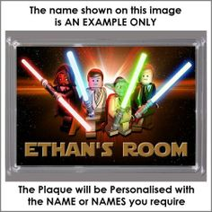 Personalised XL Size LEGO STAR WARS Bedroom Door Plaque - Plaque Size 16.5cm by 11.5cm - An Ideal Gift , http://www.amazon.co.uk/dp/B00E1FYE8Y/ref=cm_sw_r_pi_dp_WMBKsb1TXDMBR
