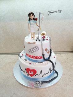 Birthday Cake For Mom, Beautiful Birthday Cakes, Nursing Graduation Cakes, Nurse Party, Nurse Jackie, Mom Cake, Male Nurse, Cakes For Boys, Grad Parties