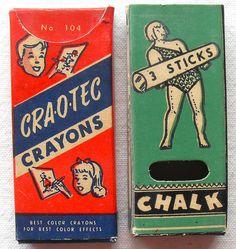 1950s Vintage CRA-O-TEC Crayons And Chalk Box Graphics | Flickr - Photo Sharing!