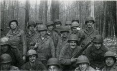 """""""Green Hell"""".The Battle of the Hürtgen Forest - Members of Anti-Tank Company, 22nd Infantry November 1944 in the Hurtgen forest. (Small)"""