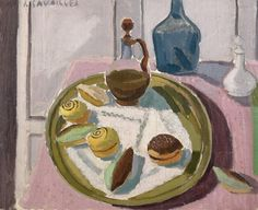 Jules CAVAILLES (1901-1977) Le goûter Huile sur toile, signée en haut à gauche 60 x 73 cm - Aguttes - 14/02/2017
