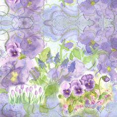 Grape Hyacinth Purple Swirl fabric by countrygarden on Spoonflower - custom fabric