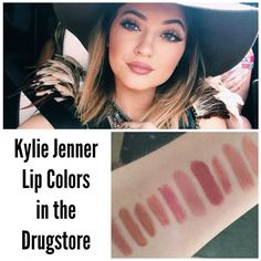 Kylie Jenner Lip Colors in the Drugstore | rosylipped.blogspot.com