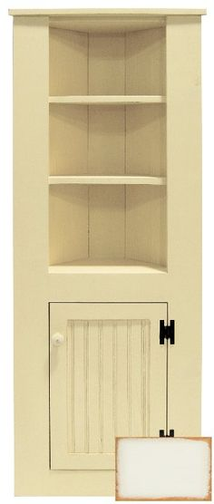 Our Small Corner Kitchen Hutch Is Perfect For Your Smaller Space This Has Shelving With A Base Cabinet Door