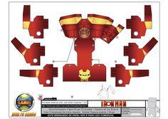 Divirtam-se montando este boneco de papel 3D. Vídeo boneco montado: http://youtu.be/sWRSClfgpEI #IronMan #Marvel #Papertoy