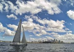 Sailing Sydney Harbor – the calm before the storm.