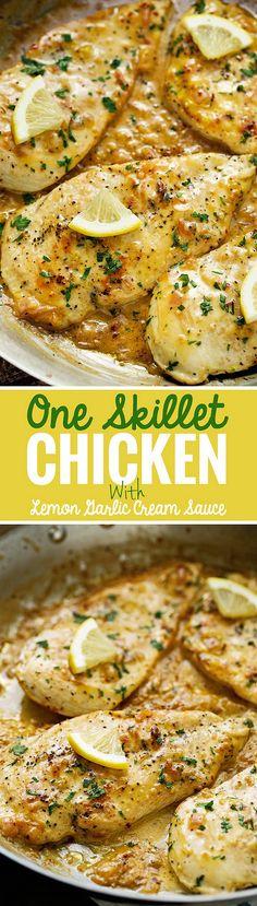 One-Skillet-Chicken-with-Lemon-Garlic-Cream-Sauce-4 | Flickr - Photo Sharing!