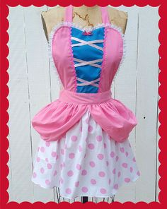 Little Bo Peep costume apron womens costume by loverdoversclothing
