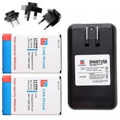 For+LG+G3/D855+Link+Dream+2pcs+Rechargeable+Li-ion+Battery+with+US/EU/UK/AU+Plug+Dock+Charger