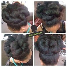 Blow Dried Natural Hair Updo by kemilewis Natural Braided Hairstyles, Natural Hair Updo, Afro Hairstyles, Wedding Hairstyles, Natural Hair Styles, Bridal Hairstyle, Hairdos, Blow Dry Natural Hair, Natural Hair Wedding