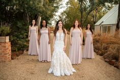 These gorgeous ladies are wearing our stunning Annabell in Soft Peach. The Annabell has a beautiful tulle bodice. This image was taken by Darrel Fraser Peach Bridesmaid Dresses, Bridesmaids, Wedding Dresses, Gorgeous Women, Beautiful, Every Woman, Dress Making, Designer Dresses, Bodice