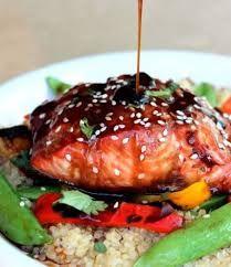 Salmon  with Maple Orange Teriyaki Sauce on http://www.garlicrecipes.ca