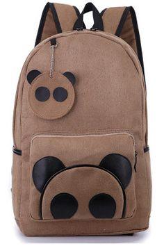 Panda Backpack Panda Love, Pouch, Wallet, My Spirit Animal, School Backpacks, Handmade Bags, School Projects, Children, Kids