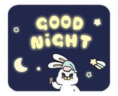 Night Night, Gif, Little Twin Stars, Line Sticker, Emoticon, Bunny, Vibrant, Animation, Messages