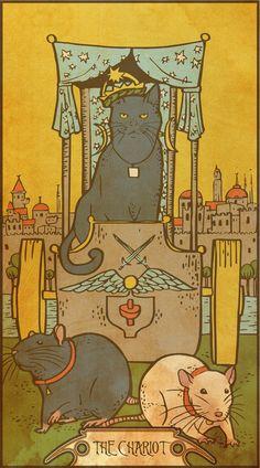 Muroidea Rat Tarot- The Chariot Canvas Print by midio The Chariot Tarot, Tarot Major Arcana, Love Tarot, Oracle Cards, Canvas Prints, Art Prints, Tarot Decks, Cute Art, Collages