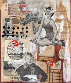 mixed media collage - aaron beebe \\\