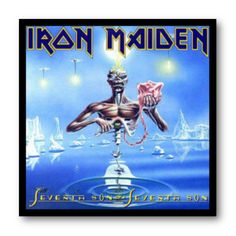 Cuadro con marco negro de aluminio para disco de vinilo / Iron Maiden - Seventh Son of a Seventh Son / #IronMaiden