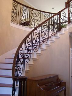 Wrought Iron Staircases Fitts Sheraton Style Stair