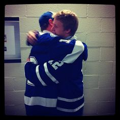 Morgan Rielly and good friend Slater Koekkoek embrace after being drafted