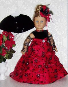 "Regency Gown,Cape,Jewerly Set Made For American Girl &Similar Size18"" Dolls"