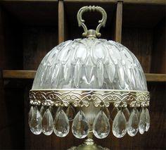 Antique Glassware   ... VINTAGE GLASS/CRYSTAL TABLE LAMPS For Sale   Antiques.com