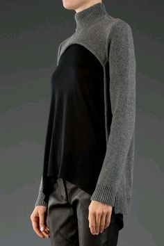 Interesting sweater treatment -- did you stain the front/ Or can you find a too big body with a small neck to do this??