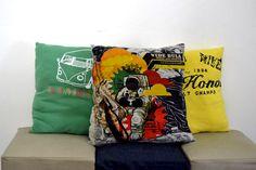 camisetas velhas de estimação viram almofadas