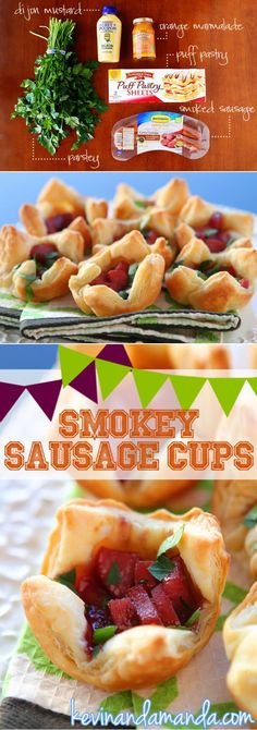 Smokey Sausage Cups Appetizer. Like Crockpot Little Smokies + Pigs in a Blanket all wrapped up in one PERFECT bite!