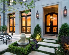 New house entrance exterior entryway courtyards Ideas Outdoor Rooms, Outdoor Living, Exterior Design, Interior And Exterior, Facade Design, Interior Modern, Front Entrances, My Dream Home, Curb Appeal