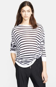 T by Alexander Wang Long Sleeve Stripe Tee available at #Nordstrom
