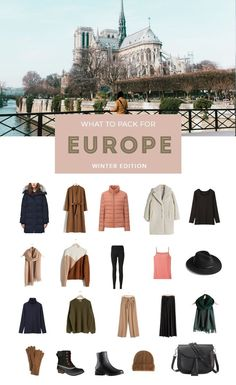 What to Pack for Winter in Europe with just a carry on copy.jpg What to Pack for Winter in Europe with just a carry on copy. Travel Outfit Spring, Europe Travel Outfits, Packing For Europe, Packing List For Travel, Travel Wardrobe, Packing Tips, Winter Packing, Capsule Wardrobe, Vacation Packing