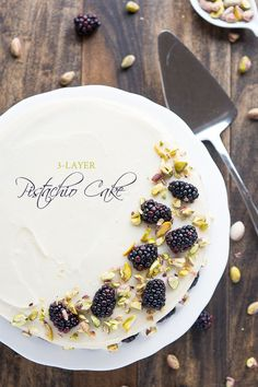 Made-from-scratch 3-Layer Pistachio Cake from @handleheat