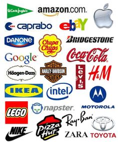 Diversos logotipos de marcas comerciales. SIGNIFICADO.                                                                                                                                                      Más