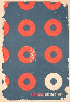 John Fishman's dress pattern. Coventry concert poster 2004