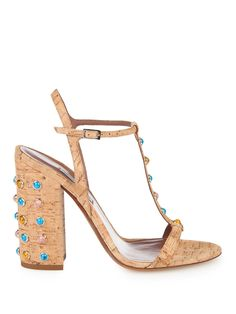 <3 Elvy cork and stone-embellished sandals | Tabitha Simmons | MATCHESFASHION.COM US